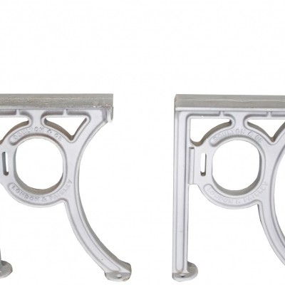 Pair Of Painted Cast Iron Brackets By Doulton
