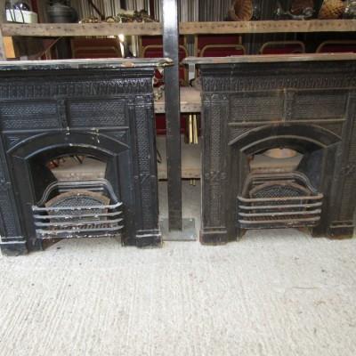 Matching set of edwardian fireplaces.