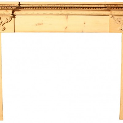 19th C. Carved Pine Fire Surround