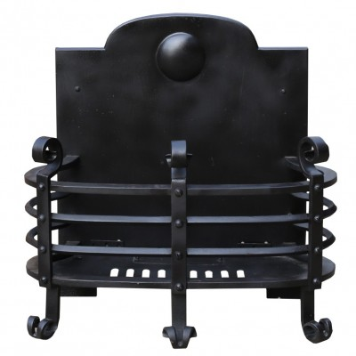 Early 20th Century Iron Fire Grate