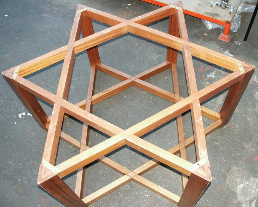large Judaic  star of david table