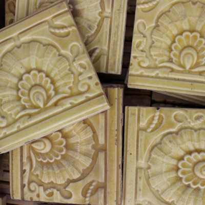 embossed glazed tiles