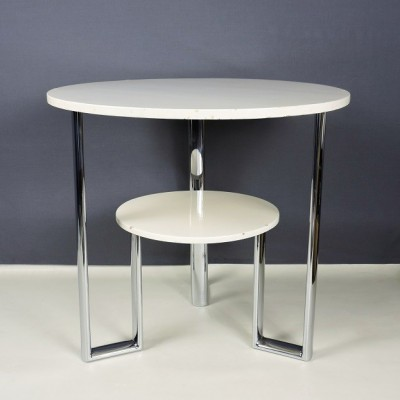 Heal's Heal & Son art deco table occasional side tubular steel chrome lacquer 30s Ambrose