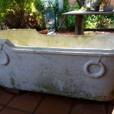 Antique Carrara marble bathtub