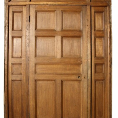 Antique Solid Oak Arched Doorway