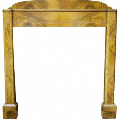 Art Deco Walnut Fire Surround