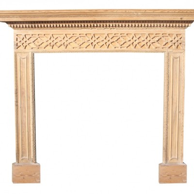 Late 18th Century Carved Pine Chimney Piece