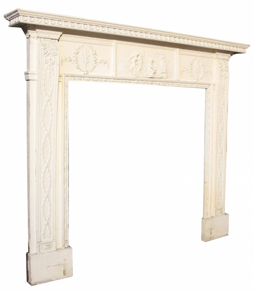 Regency Pine And Gesso Fire Surround