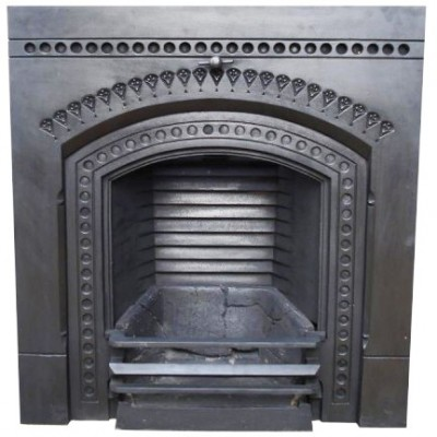 Ornate Cast Iron Fireplace Insert