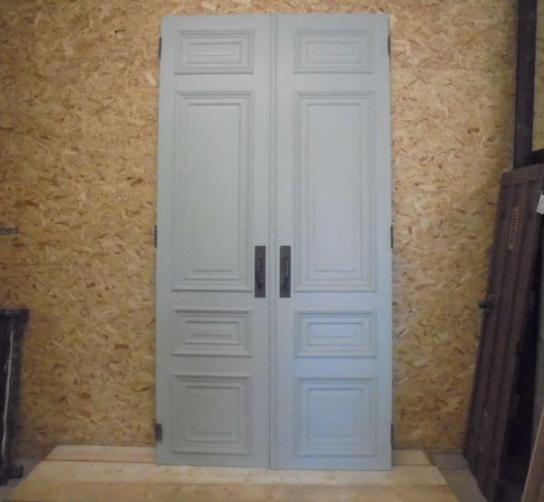 Pair of tall wooden internal french doors