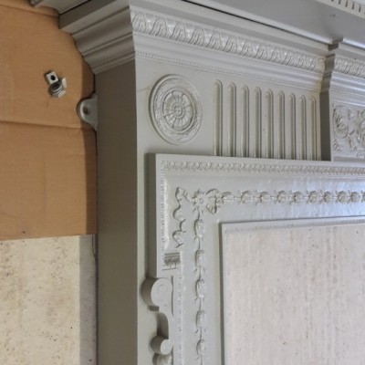 Victorian cast iron fire-surround
