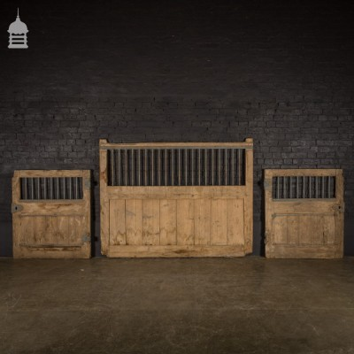 19th C Cast Iron and Pine Stable Components