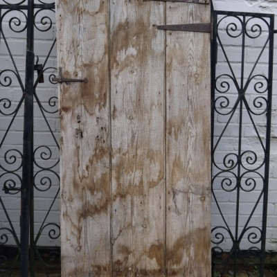 reclaimed pine ledged door