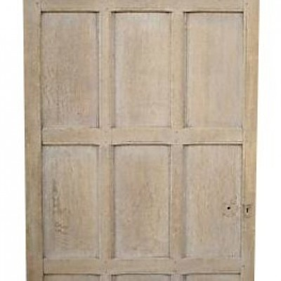 Antique Oak Panelled Door