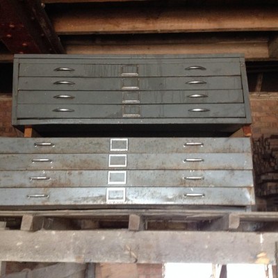 Vintage Steel Industrial File / Drawing Cabinets