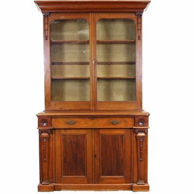 Victorian Mahogany Glass-Fronted Dresser