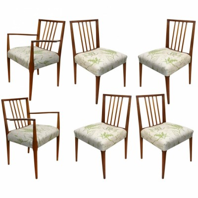 Mid Century Teak Chairs (Set of Six)