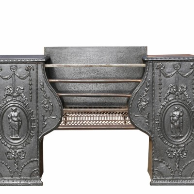 18th Century Cast Iron Georgian Hob Grate