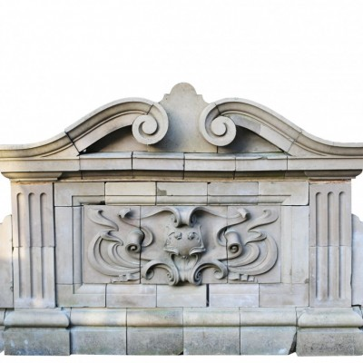Antique 19th Century Buff Terracotta Fountain
