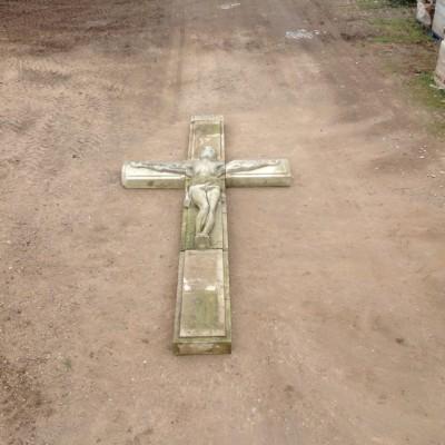 Large Portland Stone Crucifix