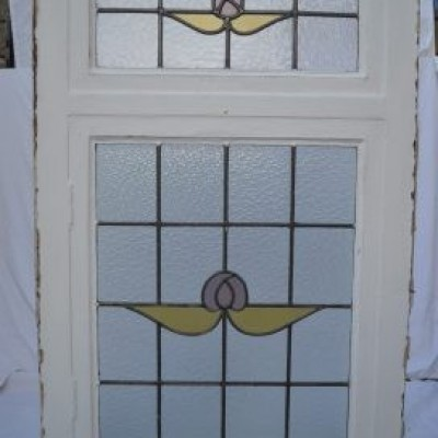 Large leaded light stained glass window with double-glazing options. R659