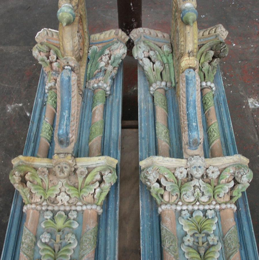 antique pair of indian columns