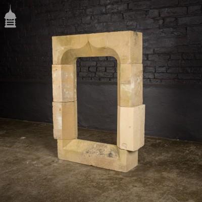 Small Victorian Gothic Carved Stone Mullion Niche Window
