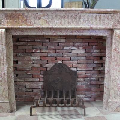 Antique marble Louis XVI fireplace