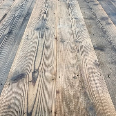 Antique salvaged pine floorboards