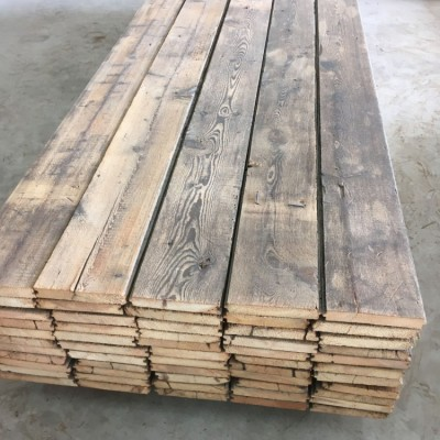 Antique reclaimed grey pine floorboards