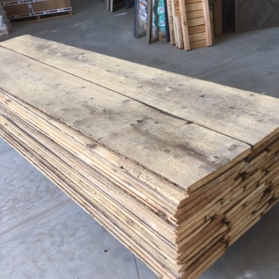 Wide reclaimed Swiss antique pine floorboards