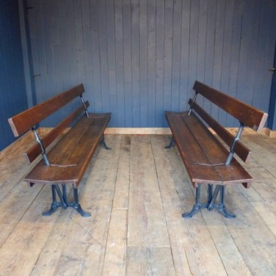 Two Way Cast Iron Railway Benches
