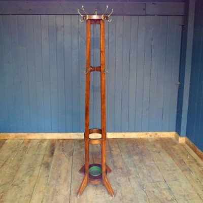 1930's oak Rocket Shaped Coat Stand