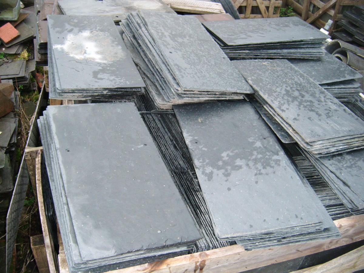 New natural roof slates spanish