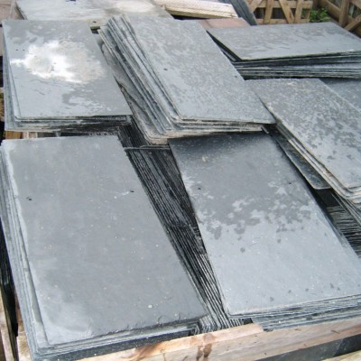 New natural roof slates spanish