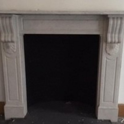 Original Carrara Marble Victorian Fire Surround