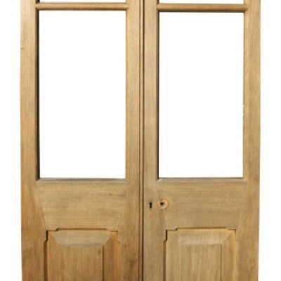 Pair Of Edwardian Oak French Doors