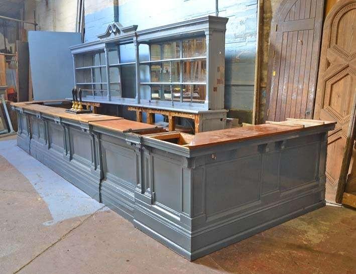 Mahogany dado or bar front