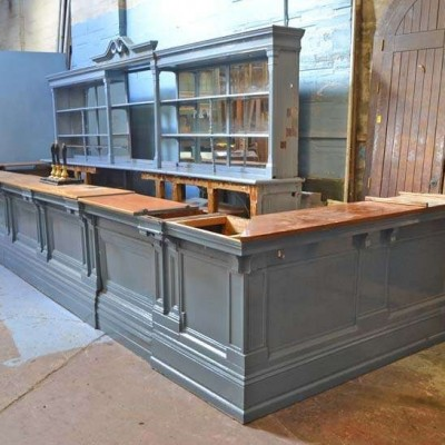 Mahogany dado or bar front