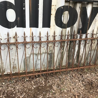 RUN OF ANTIQUE FRENCH WROUGHT IRON RAILINGS