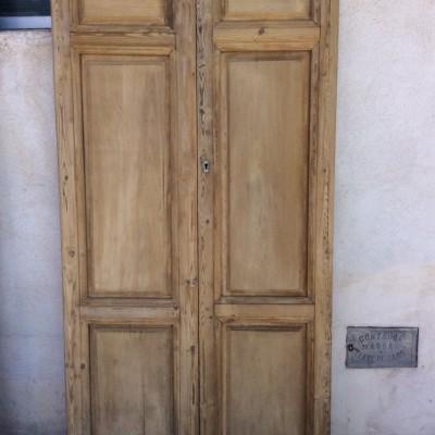 Decorative exterior double doors