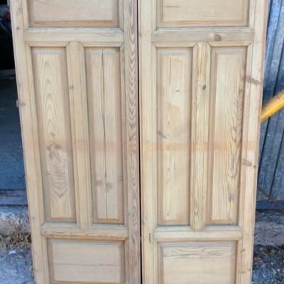 Pitch Pine Shuttered Doors