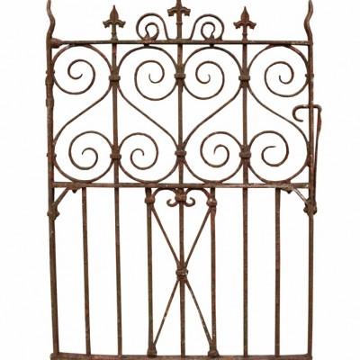 Antique Wrought Iron Pedestrian / Side Gate