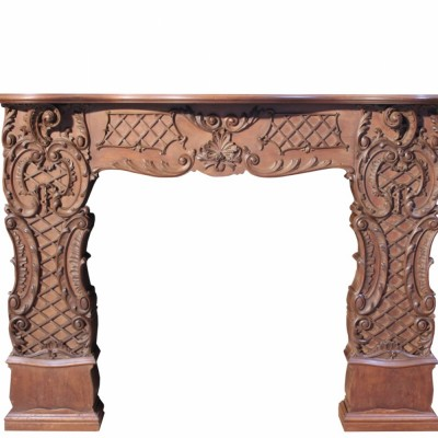 Unusual And Impressive Carved Mahogany Fire Surround