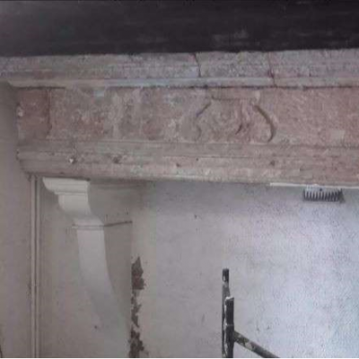 Monumental Antique Renaissance Stone Fireplace