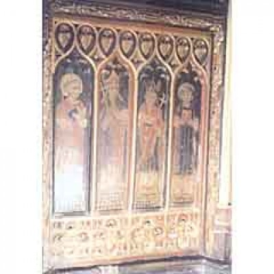 Painted 15thC church panels stolen