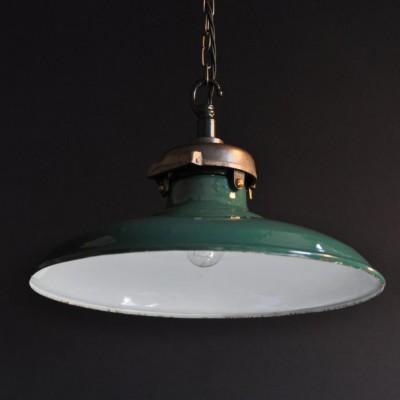 vintage  enamel and cast iron light shades fittings english