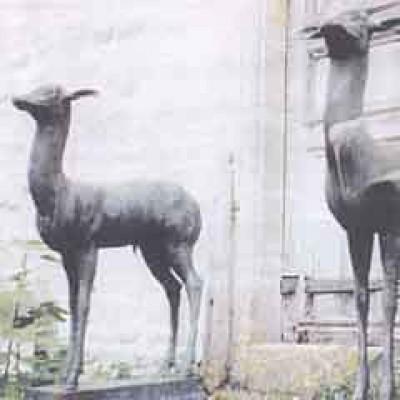 Bronze deer stolen