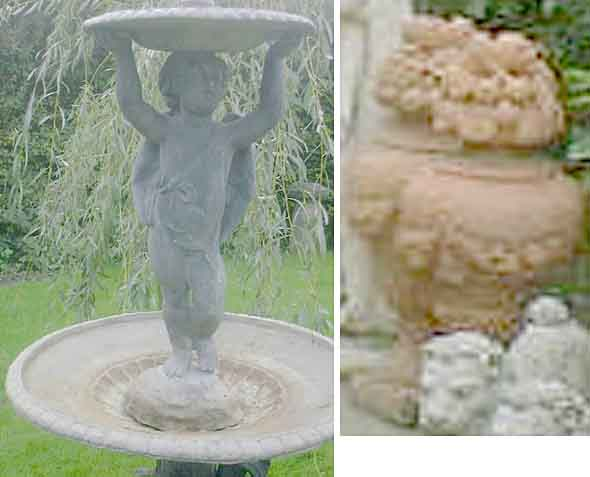 Nine lots of garden statuary