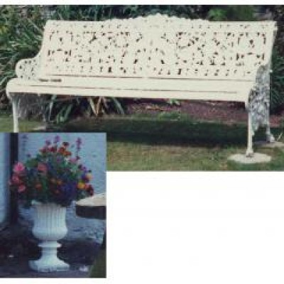 2 Urns and a bench